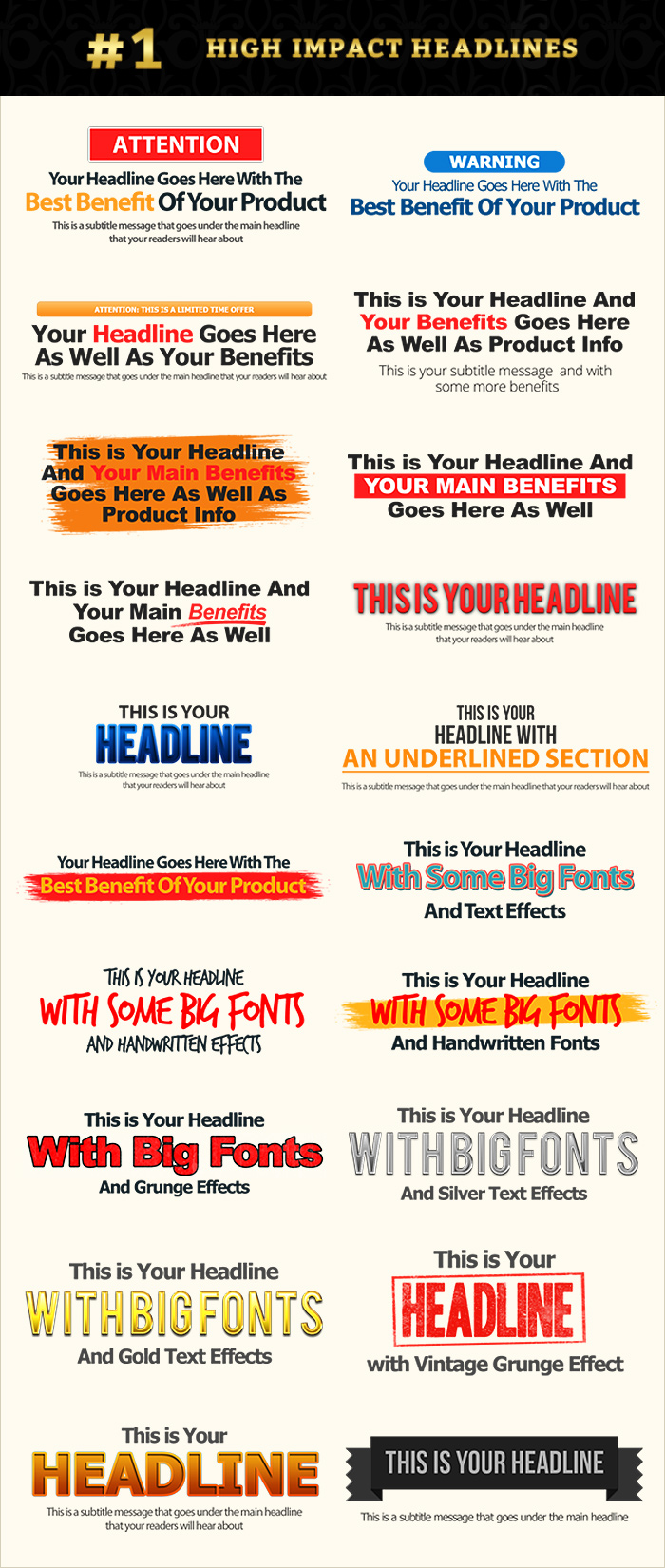 Headline Graphics Pack Contents