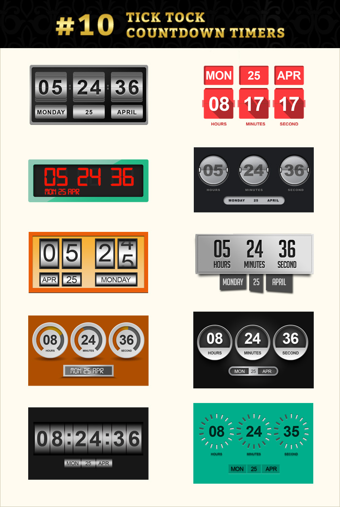 Countdown timer graphic pack