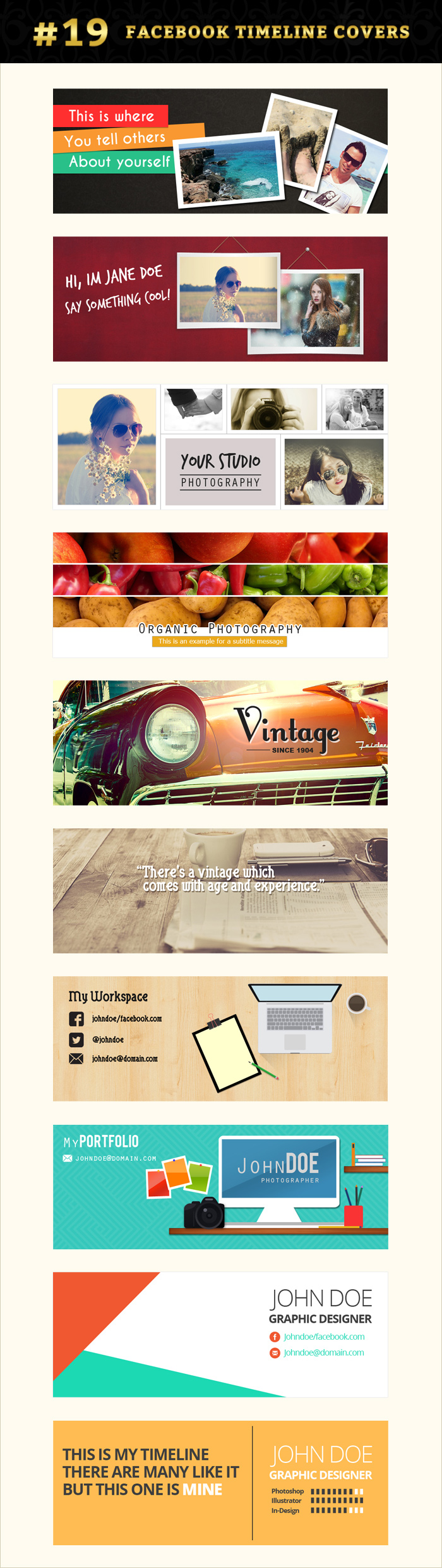 Facebook timeline cover graphics